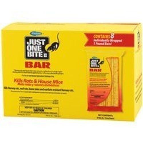 New Case of (8) 16oz Bars Just One Bite Ii Rat Mouse Bait Killer #9997651 Sale