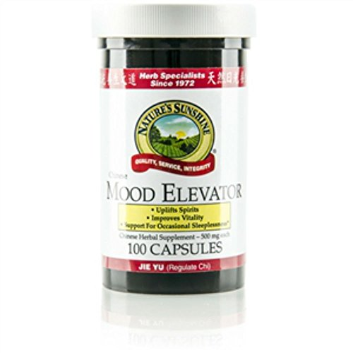 Nature,s sunshine Mood Elevator, Chinese Herbal Supplement Supports circulatory and lympathic systems 100 Capsoles Each (Pack of 4) by Nature,s sunshine