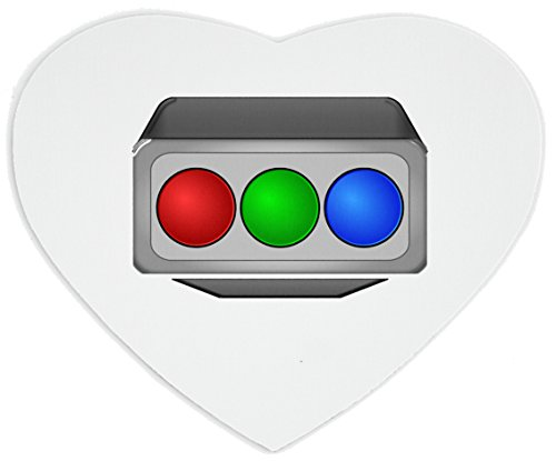 Heartshaped Mousepad with Older television projector CRT RGB