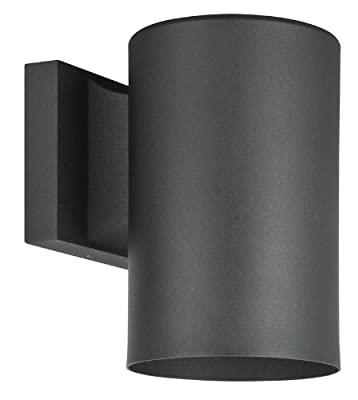 Sunset Lighting F6901-31 Architectural - One Light Round Outdoor Wall Mount, Black Finish