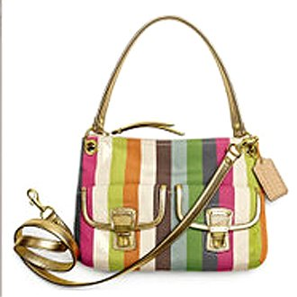 Coach Signature Poppy Legacy Stripe Hippie Multicolor, Bags Central