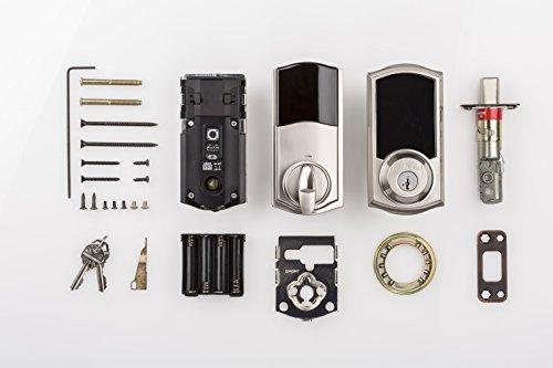Kwikset 99160-008 SmartCode ZigBee Touchscreen Smart Lock works with Echo Plus & Alexa, featuring SmartKey, Satin Nickel by Kwikset (Image #5)