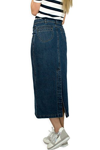 Dcontracts 40 36 jeans Fashion 48 Boutique Jupe 42 38 50 longue 44 Bleu 46 EU denim Crayon PrPwqCz