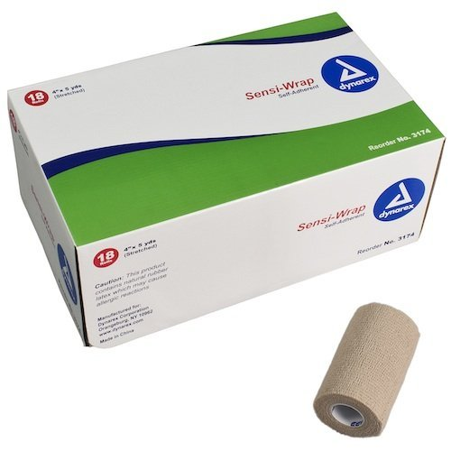 18 A Case, Tan, Self-Adherent Latex Content Sensi Wrap, 4 x 5 yds. by First Aid Only (Adherent Case)