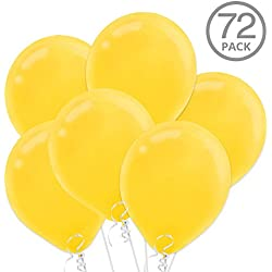 "Yellow 12"" Latex Balloons, 72ct"