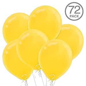 "Yellow 12"" Latex Balloons 72ct"