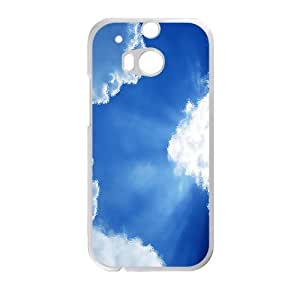 Personalized Creative Cell Phone Case For HTC M8,glam sunshine blue clouds sky