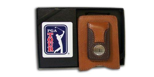 PGA TOUR Men's Magnetic Money Clip, Brown