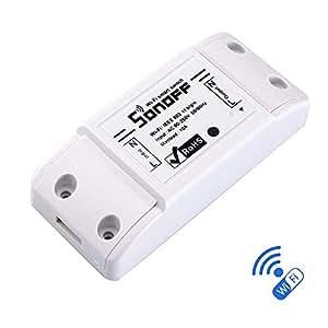 Sonoff Basic Switch Smart Universal Wifi Contrôle sans fil remoto Smart Home Switch avec temporisateur DIY Switch Radio VIA IOS Android 10A / 2200W