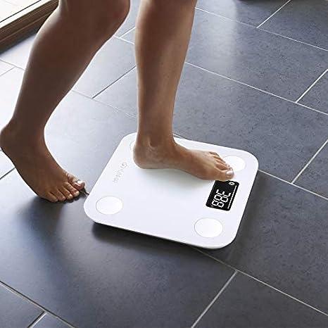 Yunmai Mini - Báscula de Baño Digital, Smart con Bluetooth, Indice de Grasa Corporal con App, Funciona con iPhone: Amazon.es: Salud y cuidado personal