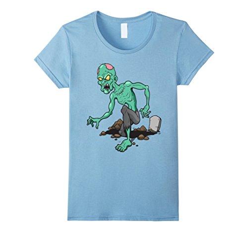 Womens Scary Zombie T-Shirt Retro Halloween Costume Idea Medium Baby (Womens Zombie Costume Ideas)