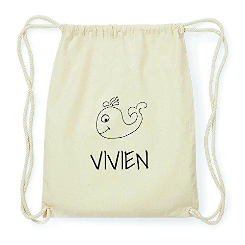 JOllipets VIVIEN Hipster Turnbeutel Tasche Rucksack aus Baumwolle Design: Wal