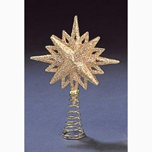 5.5 Gold Glitter Mini Star of Bethlehem Christmas Tree Topper - Unlit