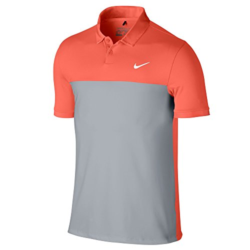 Nike Men's Icon Colour Block Polo Shirt Turf Orange/Wolf Grey F84vHtr8P