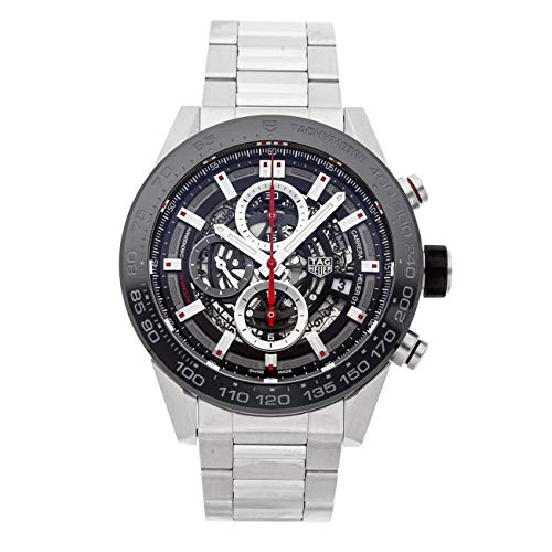 Tag Heuer Carrera Mechanical (Automatic) Black Dial Mens Watch CAR2A1W.BA0703 (Certified Pre-Owned)