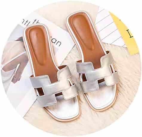 e4e9ea45f58 Tiwcer Luxury Brand 2019 New Summer Slippers Women Cut Out Beach Sandals  Women Slides Outdoor Slippers