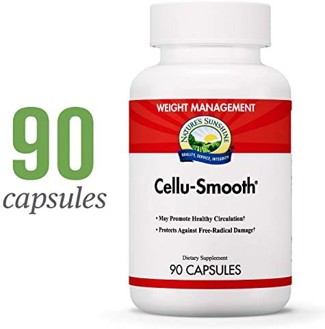 Nature s Sunshine Cellu-Smooth w Coleus, 90 Capsules Mobilizes Fat and Lymph Stores for Efficient Distribution and Protects Against Free Radical Damage to Structural Skin Proteins