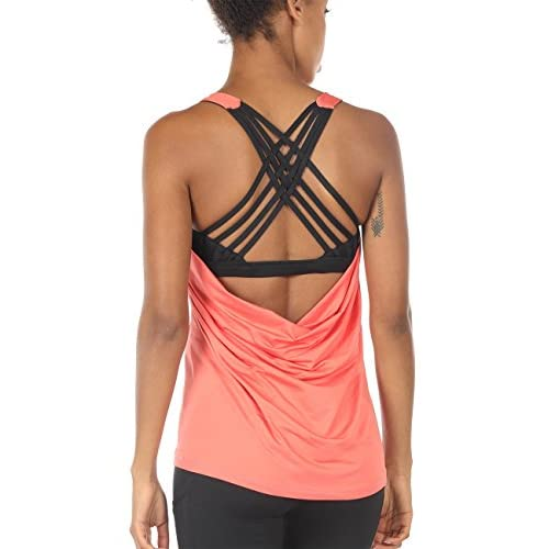 Icyzone Yoga Tops Workouts Clothes Activewear Built In Bra