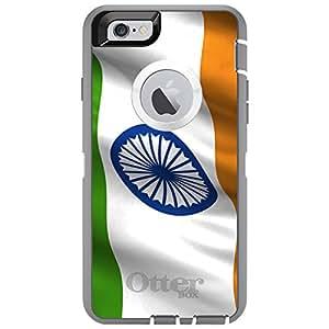 "CUSTOM Glacier OtterBox Defender Series Case for Apple iPhone 6 (4.7"" Model) - India Waving Flag Indian"