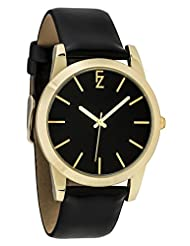 Ferenzi Women's | Simple Casual Minimalist All Black Silver Watch with Smooth PU Leather Strap | FZ17504