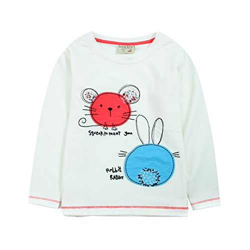 [Neighbor Girl Children's Baby Mouse and Rabbit Head sweatshirts 100% Cotton (2-7 Years)] (Witch Coustumes)