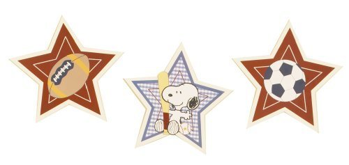 Bedtime Originals Champ Snoopy Wall Hanging, Blue (Discontinued by Manufacturer) by Lambs & Ivy