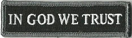 Tactical Morale Patch Black in GOD We Trust