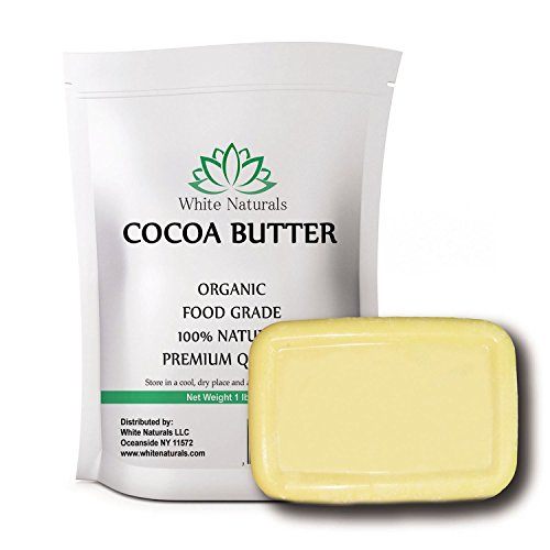 Cocoa Butter 16oz By White Naturals - Organic, 100% Natural, Unrefined, Pure, Raw, Food Grade, Excellent For Skin Care & Cooking & DIY Recipes. (16)