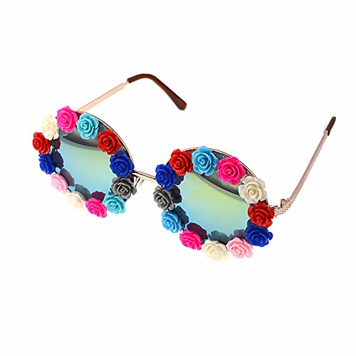 sol gafas de la Estilo gafas sol hecho gafas sol de flor de Elegante sol exagerar Retro de marco mano cristal barrocas estilo personalidad a Retro de de Viajar Para la pesca Unisex playa moda gafas 8A8wq6H