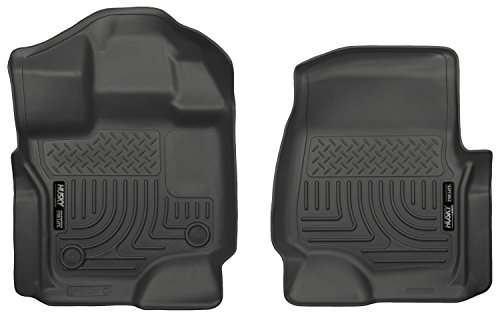 Husky Liners Front Floor Liners Fits 15-18 F150 SuperCrew/SuperCab - Exact Fit Mats