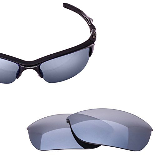 LenzFlip Polarized Replacement Lenses Oakley HALF JACKET 2.0 Sunglass - Black with Silver Chrome Mirror - Half Replacement Lenses Jacket Original