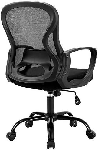 BERLMAN Ergonomic Mid Back Mesh Office Chair Adjustable ...