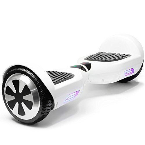 UL2272 Certified 6.5' White Hoverboard Self Balancing Smart Electric Scooter 2 Wheels with LED Lights-12 months warranty