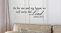 Decalgeek DG-AS-1 As for Me and My House, We Will Serve the Lord Vinyl Wall Art Inspirational Quotes and Saying Home decor Decal Sticker Steams