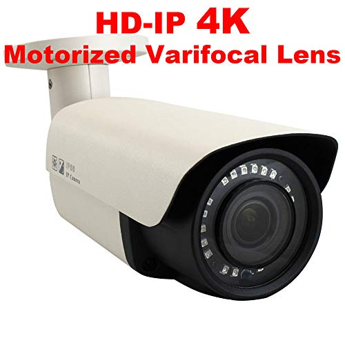 GW Security 8.0MP 4K (3840×2160) Sony CMOS 2.8-12mm 4X Optical Zoom Motorized AutoFocus Outdoor Waterproof Onvif H.265 8MP Bullet PoE IP Camera