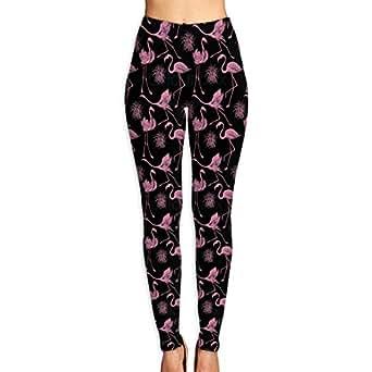 d72c04693e055 Image Unavailable. Image not available for. Color: Fly Flamingo Feather  Women's Yoga Capri Pants ...