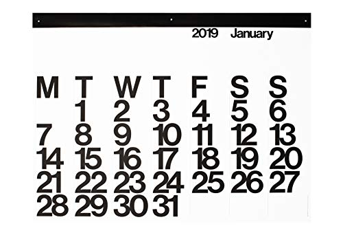 (2019 Stendig Wall, Office, and Home Calendar | Authentic Original Design of Massimo Vignelli)