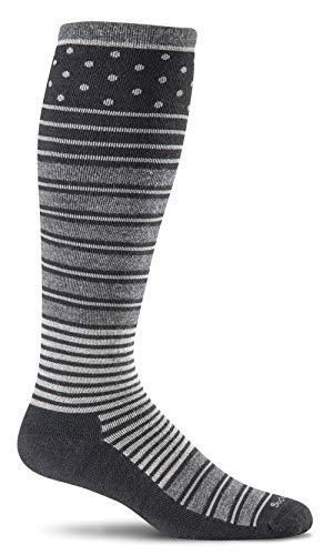 Sockwell Women's Twister Graduated Compression Socks, Black, Medium/Large