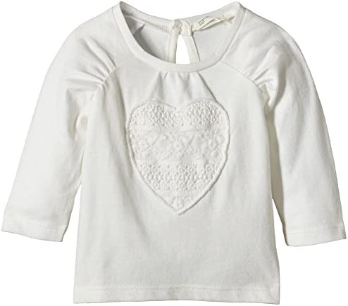 United Colors of Benetton Heart tee Camiseta de Manga Larga, Blanco Roto, 1 a 3 Meses para Bebés: Amazon.es: Ropa y accesorios
