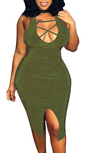 Vestito Mini Club Della Fasciatura Partito 1 Backless Del Donne Sexy Bodycon Jaycargogo qEw5nUvgI