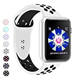 #6: Booyi Sport Band Apple Watch 38mm 40mm 42mm 44mm, Sport Bands Soft Silicone Wristband Replacement Compatible iWatch Apple Watch Series 4,3,2,1 Nike+,Sport,Edition-S/M M/L