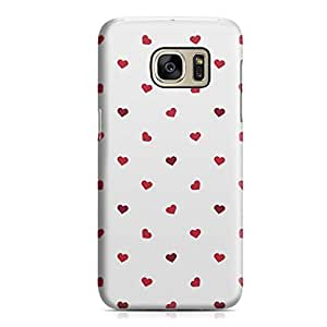 Samsung S7 Case Cute Lovely Heart Pattern For Valentines Day, Great For Girls Sleek Durable Scratch Resistant Samsung S7 Cover Wrap Around 58