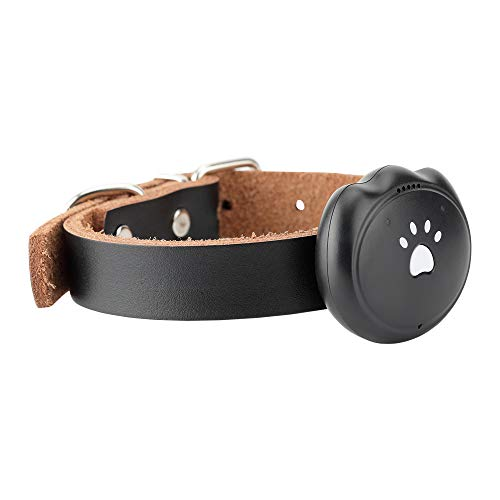 Sikye Pet GPS Tracker,Smart Dog Collar, Mini Size ABS Pet Collars Location Tractive for Pet Dogs Cats Outdoor (Black)