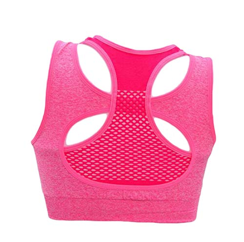 X-Future Women Workout Yoga Underwear Wire-Free Racerback Fitness Sports Bra Rose Red US M