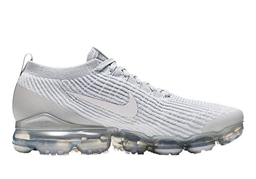 397614f607662 Nike Mens Air Vapormax 3.0 Flyknit Running Shoes White/Pure Platinum  AJ6900-102 Size 10