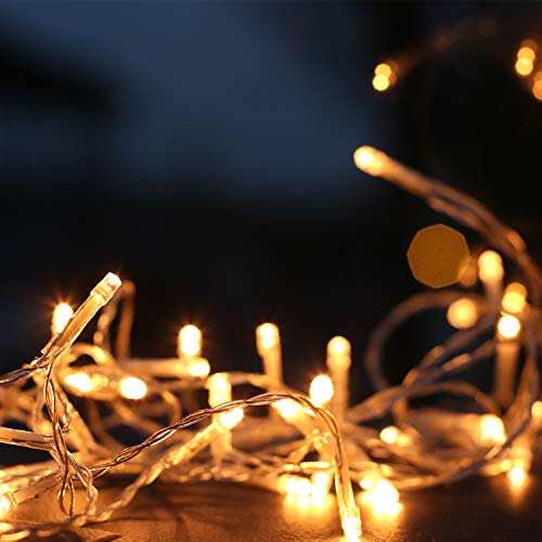 LED Solar Icicle String Lights,36Ft/11M 264 LEDs Waterproof Extendable Curtain Icicle Lights Plug in Fairy String Lights Christmas Lights for Bedroom Patio Yard Garden Wedding Party(Warm White)