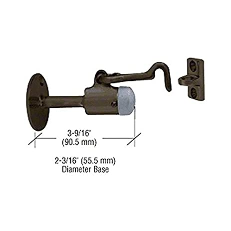 cr laurence dl2531du crl bronze wall mounted heavy duty door stop with hook and holder