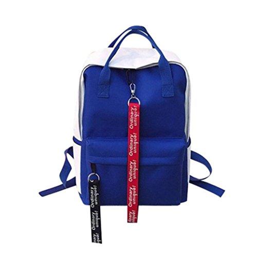 Leisure Zipper Bag Student Backpack Folding Bag Couple Travel Bag Knapsack Bag by-NEWONESUN by NEWONESUN-Fashion Bag