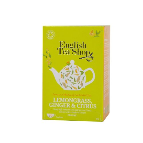 English Tea Shop Lemongrass Ginger & Citrus Fruits Organic ,20 Sachet Tea Bags