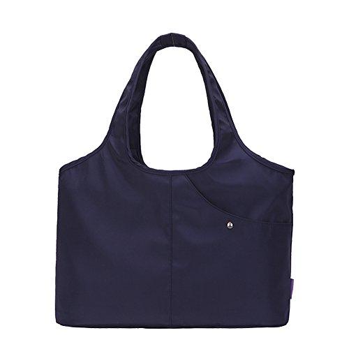 mano bolso del del de hombro del Bolso de totalizador del mujeres del grande de las hombro totalizador del viaje del bolso Azul nylon Majome ZAfwnqx7n
